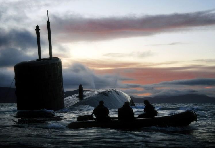 Royal Navy Submarine HMS Talent Conducts Surfacing Drills in Scotland